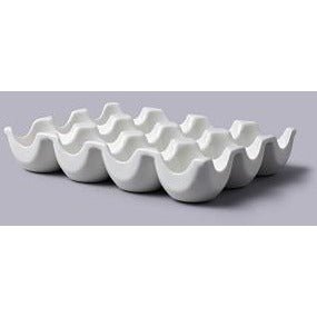 White 12 Hole Egg Holder