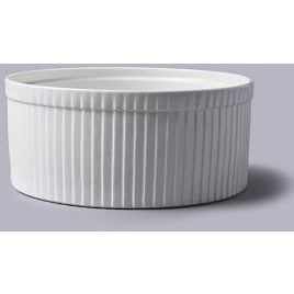 Large White Souffle Dish