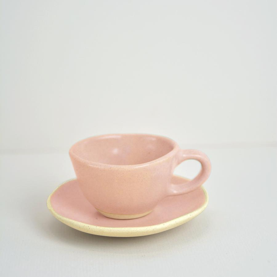 Organic Beetroot Espresso Cup & Saucer