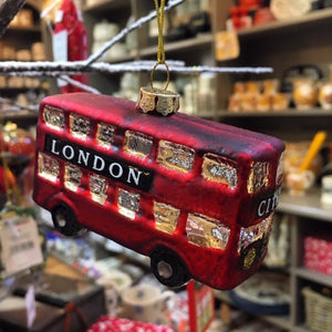 London Bus Glass Decoration