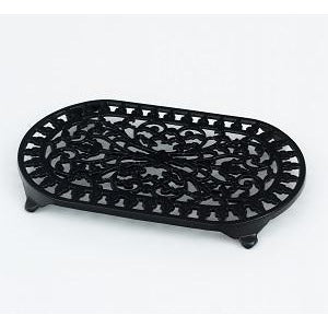 Large Black Oval Trivet