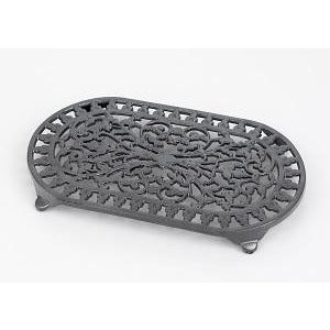 Large Graphite Oval Trivet