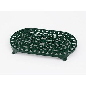 Large Green Oval Trivet