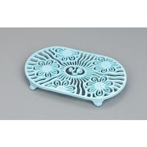 Pale Blue Oval Sun Trivet