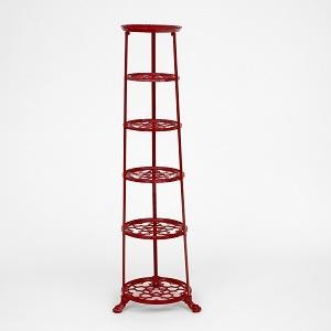 Red Six Tier Pan Stand