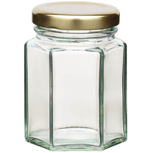KitchenCraft 110ml Hexagonal Jar withTwist-off Lid