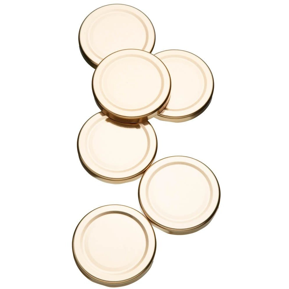 Kitchen Craft Pack of 6 Spare Preserve Jar Lids
