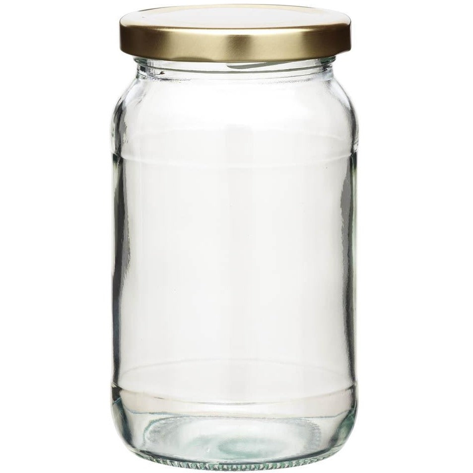 Kitchen Craft 454ml Round Jam Jar & Twist-off Lid