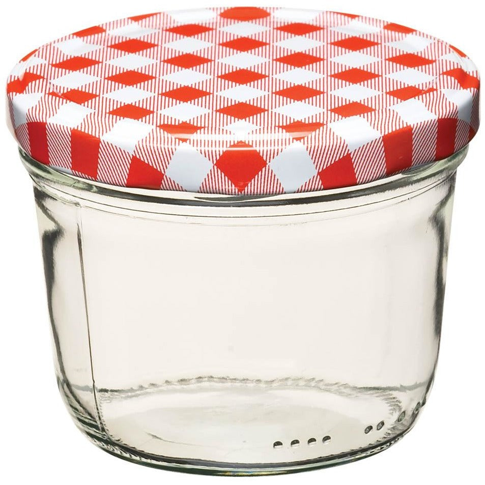 Kitchen Craft 230ml Red Gingham Jar