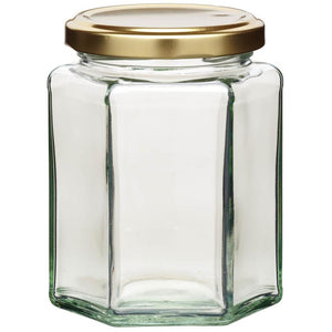 Kitchen Craft 340ml Hexagonal Jar & Twist-off Lid