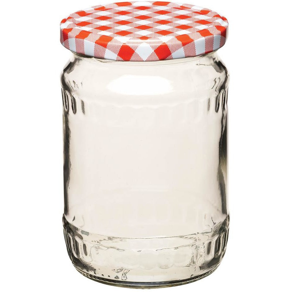 Kitchen Craft 580ml Red Gingham Jar