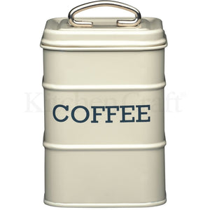 Kitchen Craft Coffee Tin Nostalgia Cream