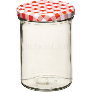 Kitchen Craft 1lb Red Gingham Jar