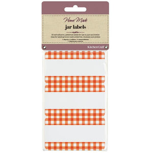 Kitchen Craft Pack of 30 Jam Jar Labels - Gingham