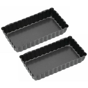 Kitchen Craft Mini Oblong Flan Tins