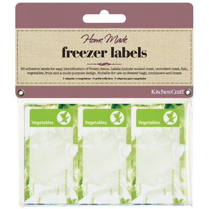Kitchen Craft Pack of 60 Assorted Freezer Labels