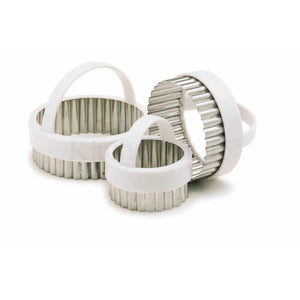 Kitchen Craft Set Fluted White Cutters