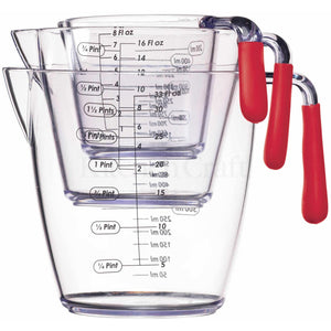 KitchenCraft Red Measuring Jugs