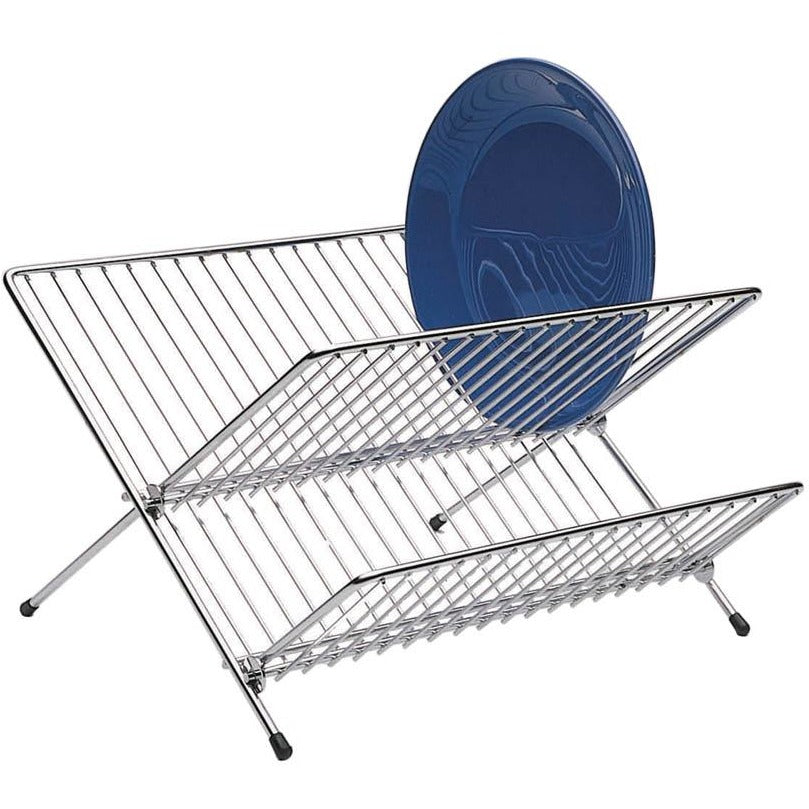 Kitchen Craft Chrome Plated Fold Away Dish Drainer