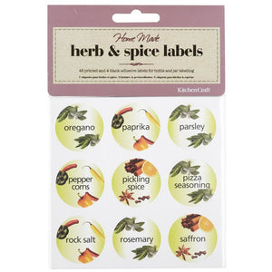 Kitchen Craft 45 Herb & Spice Bottle Labels