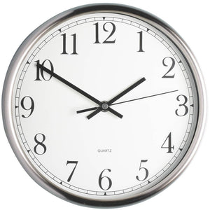 Kitchen Craft Stainless Steel 25cm Clock