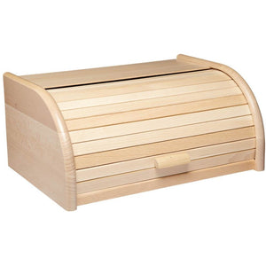 Kitchen Craft Beech Wood Roll Top Bread Bin