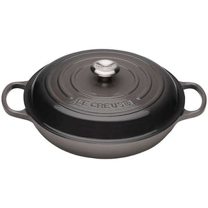Le Creuset Signature Flint Cast Iron Shallow Casserole - All Sizes