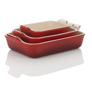 Le Creuset Cerise Heritage Stoneware Dishes - All Sizes