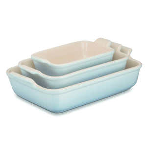 Le Creuset Coastal Blue Heritage Stoneware Dish - All Sizes