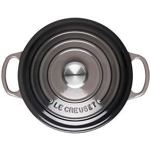 Le Creuset Signature Flint Cast Iron Round Casserole - All Sizes