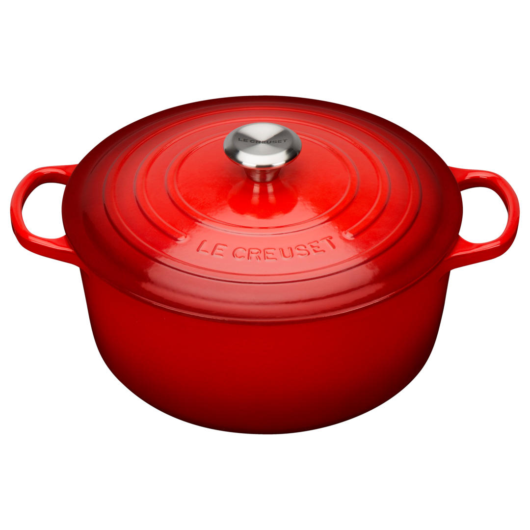 Le Creuset Signature Cerise Cast Iron Round Casserole - All Sizes