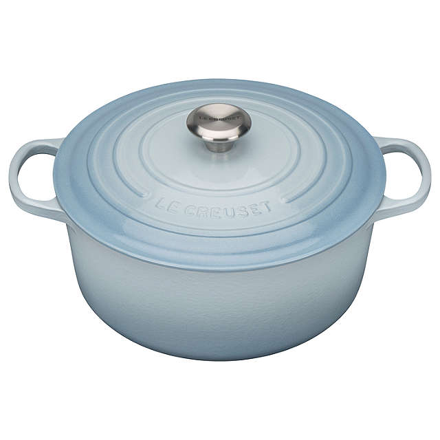 Le Creuset Signature Coastal Blue Cast Iron Round Casserole - All Sizes