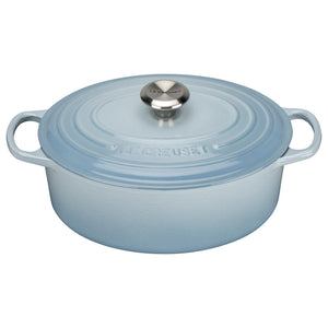 Le Creuset Signature Coastal Blue Cast Iron Oval Casserole - All Sizes