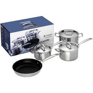 Le Creuset 3 Ply 4 Piece Boxed Set