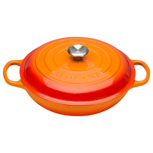 Le Creuset Signature Volcanic Cast Iron Shallow Casserole - All Sizes