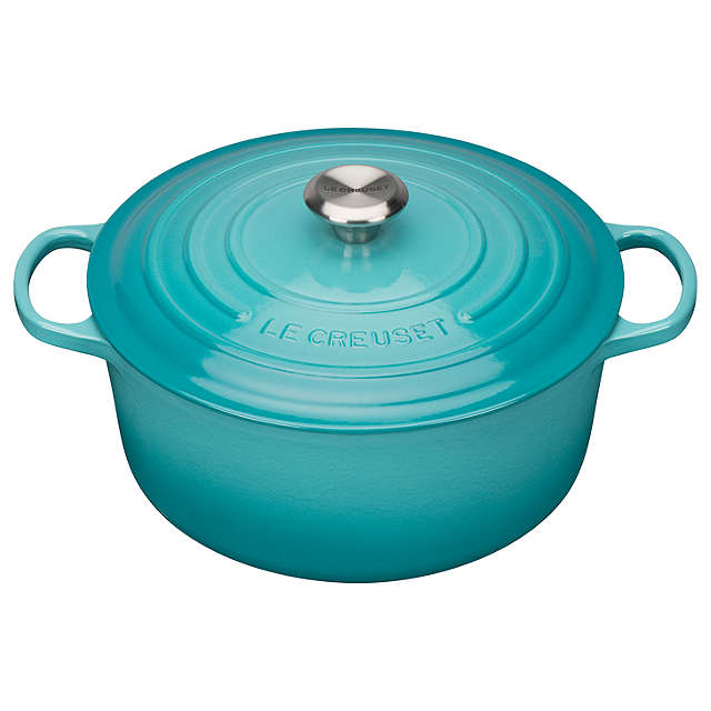 Le Creuset Signature Teal Round Casserole - All Sizes