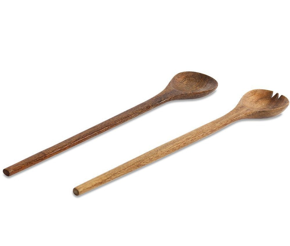 Nkuku Long Mango Wood Salad Servers