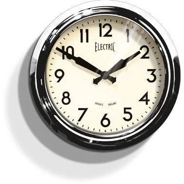 Newgate 50s Chrome Wall Clock