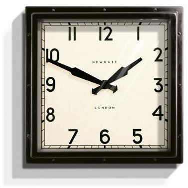 Newgate Black Quad Wall Clock