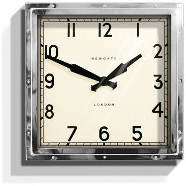 Newgate Chrome Quad Wall Clock