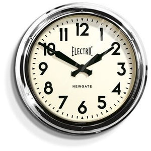 Newgate Giant Chrome Electric Clock