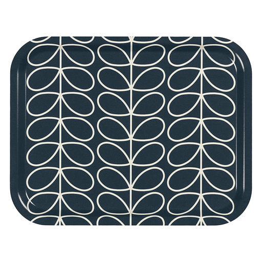 Orla Kiely Slate Linear Rectangular Tray