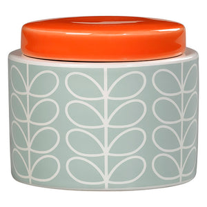 Orla Kiely Duck Egg Linear Small Storage Jar