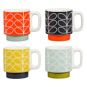 Orla Kiely Linear stacking Espresso Mugs