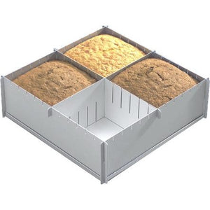 "Siverwood 12"" Multi Size Square Cake Tin"