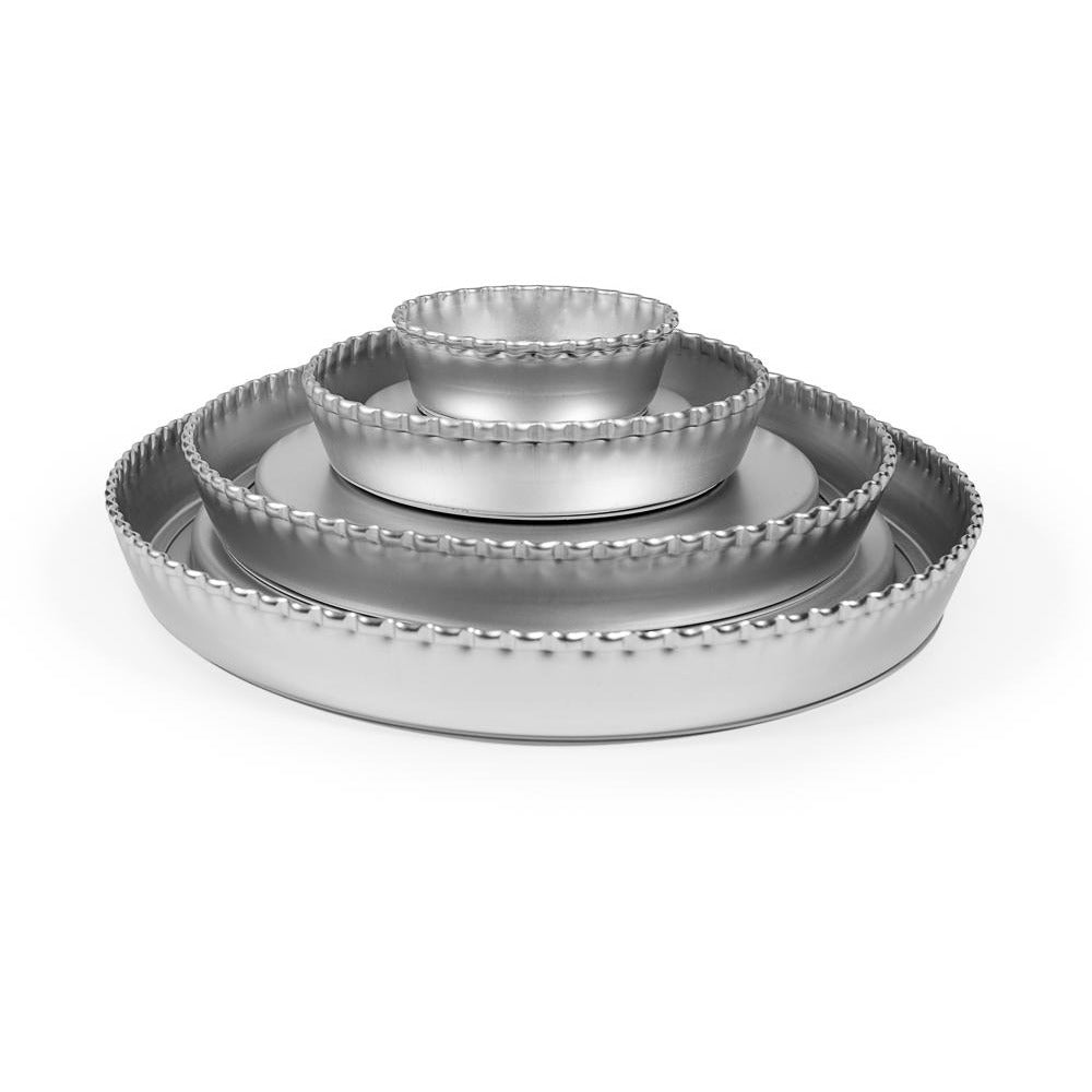 "Silverwood 3.5"" Crimped Flan Tin"