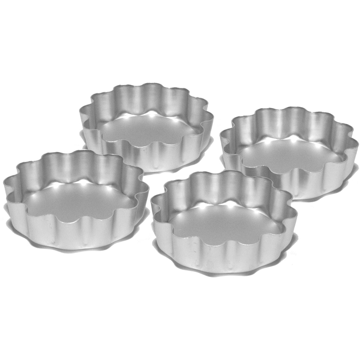 "Silverwood Set of 4 - 3å_"" Deep Fluted Flans"