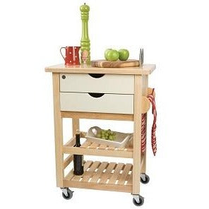 T&G Ashton Cream Trolley With Hevea Top
