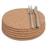 T&G Set 6 Round Cork Mats