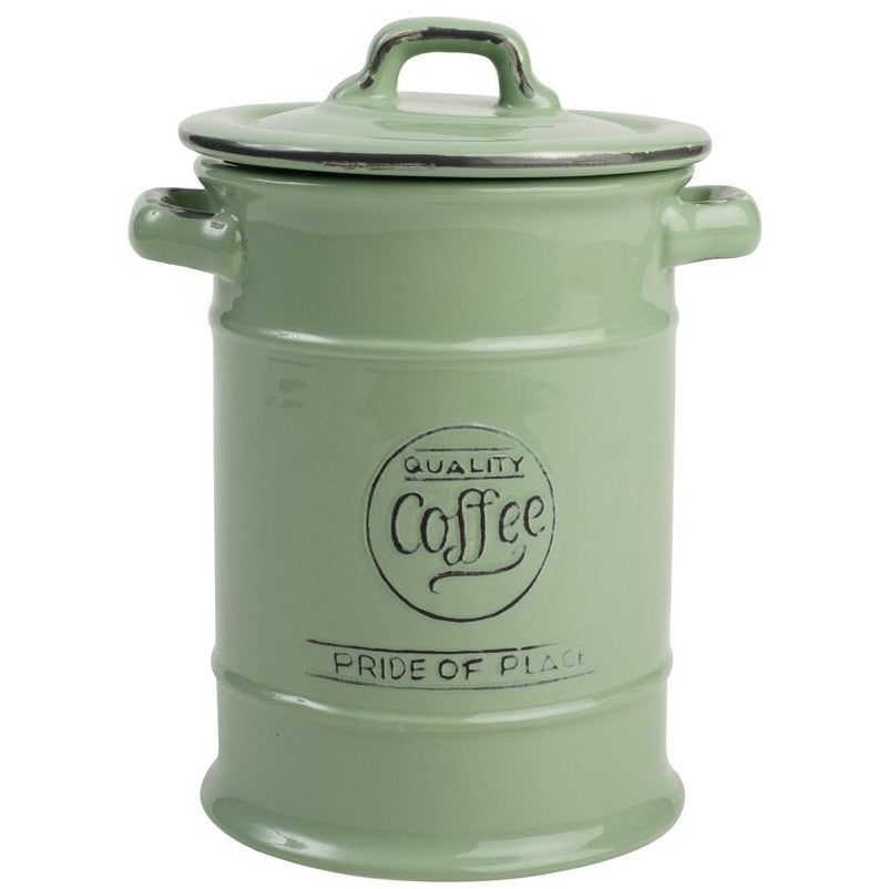 Pride Of Place Green Coffee Jar